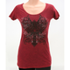 Womens Rhinestone Cross T-Shirt