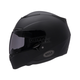 Matte Black RS-1 Solid Helmet - Convertible To Snow