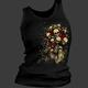 Womens Skull Bouquet Tank