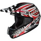 Black/Red/White Charge CS-MX Helmet