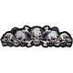 String of Skulls Embroidered Patch - LT30018