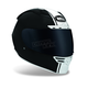 Matte Black Star Rally Helmet - Convertible To Snow