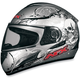 FX-100 Silver Skulls Helmet