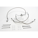 Front Clear-Coated Braided Stainless Steel Brake Line Kits - 1741-0868