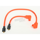 Orange 8mm Pro Spark Plug Wires w/90 Degree Boot - 77831