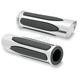 Chrome Deep Cut Comfort Grips - M-1050