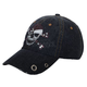 Womens Denim Rhinestone Skull Hat - 6856