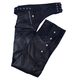 Lined Unisex Leather Chaps w/Quilted Lining
