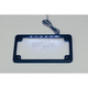 Black LED License Plate Frame - LPF-HRZ-B-LP