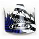 Black/Blue/White Visor for HJC CS-MX Charge Helmet - 0970-6016-02