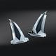 Chrome  Saddlebag Front Kick Accents - 7692