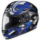 Black/Dark Silver/Blue Shock CL-16 Helmet
