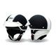 Black Shorty Rally Half Helmet