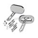 Chrome Magnum Mirror Set - 1428