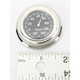 Chrome Flat Mount Thermometer w/Black Face - SL-21000