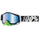 Metal-Lime Racecraft Goggles w/Mirror Blue Lens - 50110-027-02