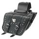 Compact Studded Slant Saddlebags - SB707S05