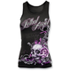 Womens Lethal Angel Floral Skull Tank Top
