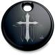 Black Cross Fuel Door Cover - CR-0005-B