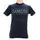 Navy Cracked Samcro Two Sided T-Shirt