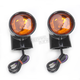 Rear Bullet-Style Turn Signals w/ Amber Lens - 2020-0602
