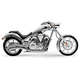 Chrome Speedster Swept Exhaust System - 1233