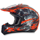 Orange Multi FX-17 Inferno Helmet