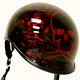 Black/Red Polo Alien Half Helmet