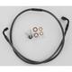 Black Pearl Designer Series Swivel-Fit Single Disc Front Brake Line - SWB562290