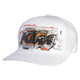 White KTM Layout Flex-Fit Hat
