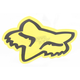 Yellow 4 in. FoxHead Sticker - 14422-005-NS