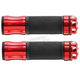 Red Grips with Revolver Bar End - HF104067RD