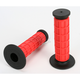 Red Full Waffle MX Grips - D533RD