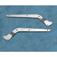 Stock Style Rear Chrome Fender Struts - 4-Hole for Models w/o Turn Signals Mounted to Fender Struts - DS-264049