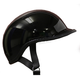 Gloss Black EX Polo Half Helmet