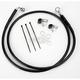 Front Extended Length Black Vinyl Braided Stainless Steel Brake Line Kit +6 in. - 1741-2571