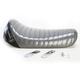 Charcoal Metalflake Pleated Bare Bones LT Series Solo Seat - L-006BKMFPT