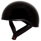 Gloss Black Nano Old School Half Helmet