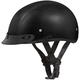 100% Leather Skull Cap Half Helmet w/Mini Scoop VisorVisor