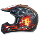 Black/Red Multi FX-17 Inferno Helmet