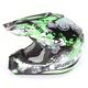 Green Stunt FX-17 Helmet