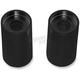 Black 2 in. Handlebar Riser Extensions for 1 in. Handlebars - LA-7413-03B