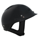 Vented Shorty Gloss Black Beanie Half Helmet