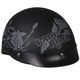 Womens Lady Rider Gray Roses Helmet