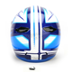 White/Blue/Black Spectrum CL-X6 Helmet