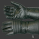 Lined Leather Gauntlet Gloves