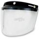 Clear Three-Snap Flip Bubble Shield/Visor - 0131-0075
