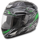 Black Green Line FX-95 Helmet