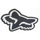 Chrome 7 in. Big FoxHead Sticker - 14423-010-NS