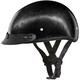 100% Carbon Fiber Skull Cap Half Helmet w/Mini Scoop VisorVisor